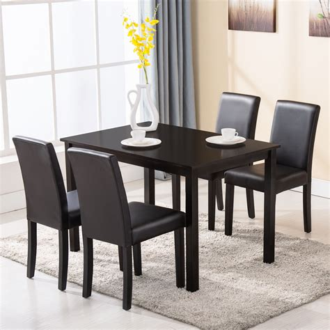 dining room table 4 chairs 5 piece dining table set 4 chairs wood kitchen dinette