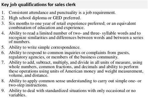 sales clerk description
