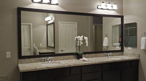large mirrors for bathrooms before and after customer bathroom in las vegas frame