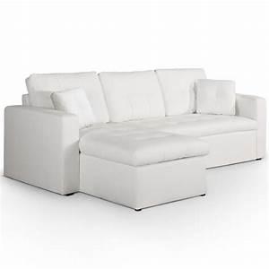 Canape Angle Cuir Blanc : canap d 39 angle convertible simili cuir blanc cuba ~ Farleysfitness.com Idées de Décoration