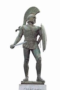 Ancient Greek Warrior Statue Stock Image - Image: 24849417