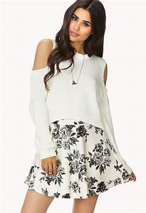 Forever 21 Dainty Floral Skirt in White   Lyst