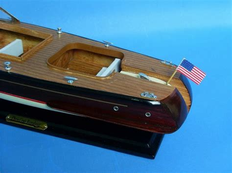 The Boat Wholesaler by Buy Wooden Chris Craft Runabout Model Speedboat 20 Inch
