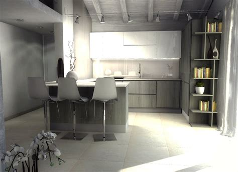 cucina mansarda una mansarda di nuova costruzione un progetto d arredo