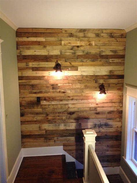 pallet wall diy diy pallet wall for upstairs with lights