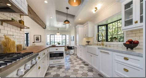 trends in kitchen flooring galley kitchen here is a kitchen that looks on trend the 8916