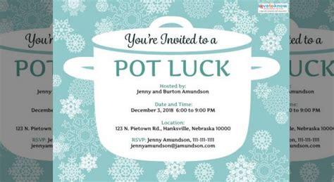 potluck invitations psd ai illustrator