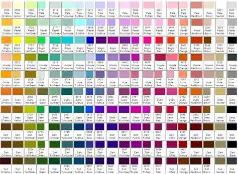 yarn color chart tahki cotton classic color card diy projects to try