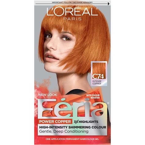 Box Hair Dye by Feria Copper Crave Hair Color Permanent Bright