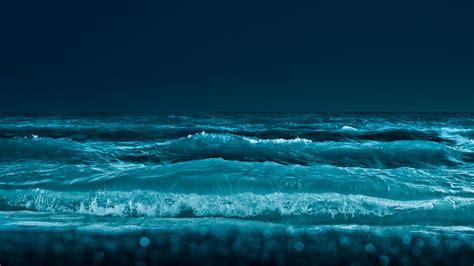 Море ночью широкоформатные Hd обои на рабочий стол