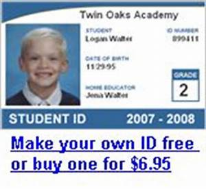 free homeschool id card template as well as links to free With homeschool id card template