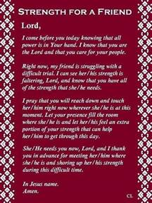 Friend Prayers Strength