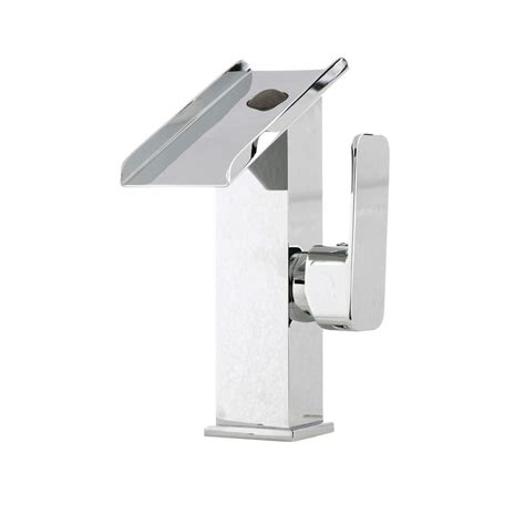 waterfall bathroom faucet chrome kokols waterfall bathroom faucet chrome