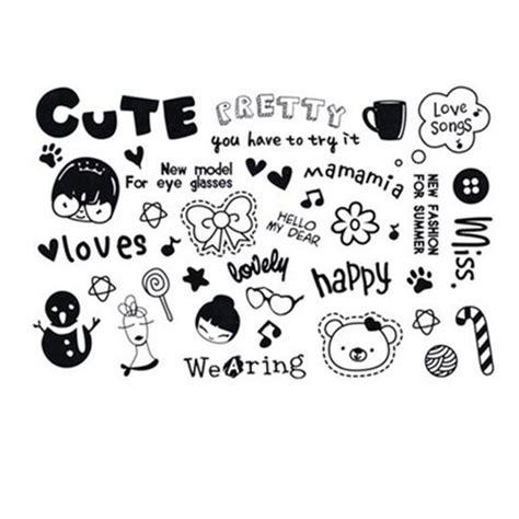 yeeech temporary tattoos sticker cute bow bear sticker