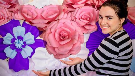 ROSA DE PAPEL GIGANTE (DIY) COM MOLDES Diário da Noiva
