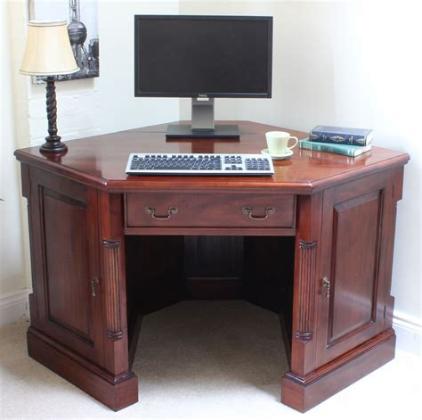 solid mahogany desk chateau solid mahogany furniture corner desk pc computer
