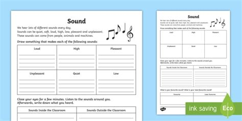 types  sounds worksheet teacher
