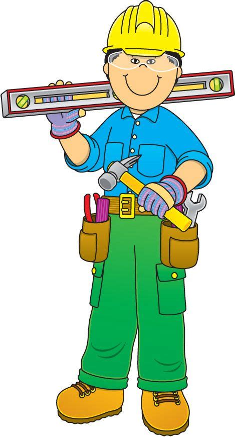Community Helpers Clipart Construction Worker Construction And Community Helpers On