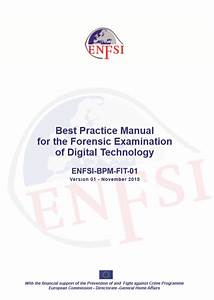 Best Practice Manual For The Forensic Examination Of