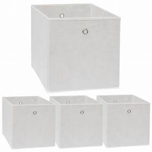 Boxen Für Kallax : faltbox set 4 boxen f r kallax regal wei 33x38x33cm expedit box mit metallgriff wohnzimmer ~ Frokenaadalensverden.com Haus und Dekorationen