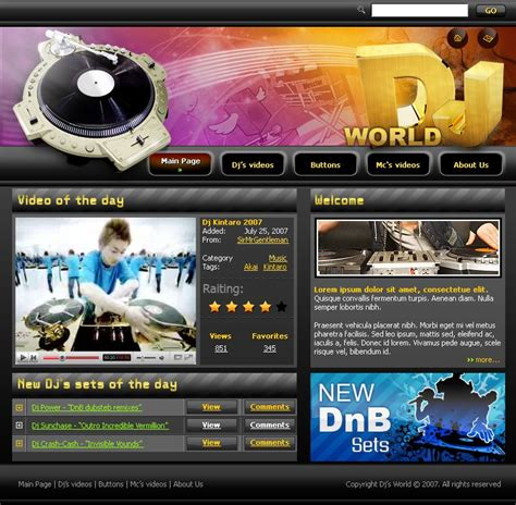 Dj Website Templates Templatesflow In Industry Launched A New Product