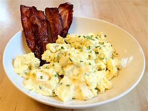 Scrambled Eggs with Chives and Brie   T1D and Gluten Free