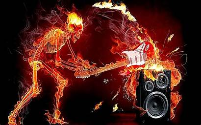 Skull Flaming Cool Wallpapers Fire Backgrounds Skulls