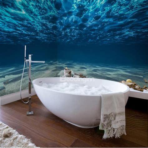 blue ocean pattern waterproof sturdy dampproof eco