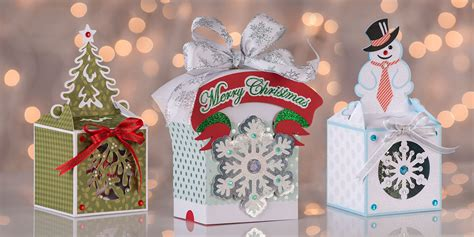 Home 3d svg cut files christmas shadow box card. Holiday Gift Boxes SVG Bundle - Dreaming Tree