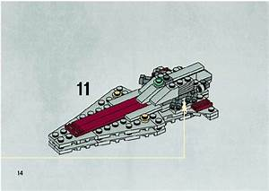 LEGO Republic Attack Cruiser Instructions 20007, Star Wars