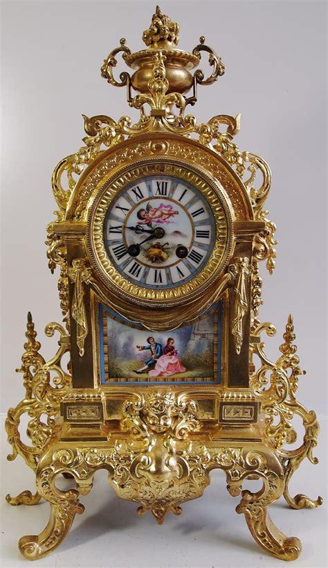 Antique Clocks 19th C French Admougin Bronze & Sevres