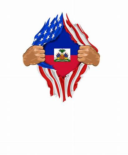 Haitian Flag Haiti Blood Hoodie Inside Gift