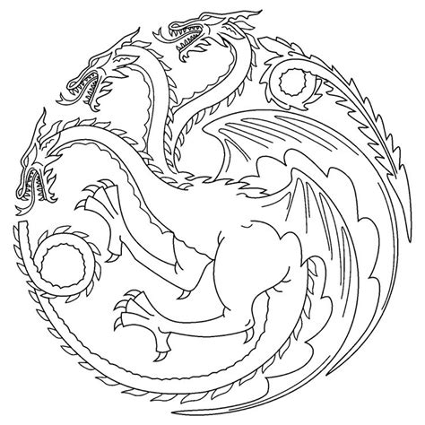 of thrones coloring pages of thrones colouring in page tagaryen colouring