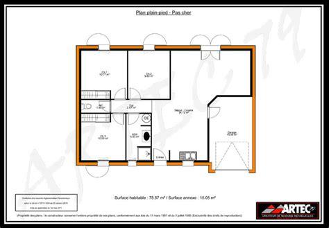 plan maison plain pied 100m2 3 chambres plan maison plain pied 3 chambres 75m2