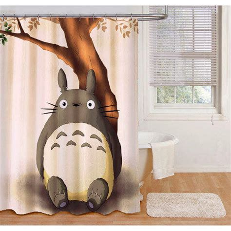 shower cap totoro totoro shower curtains from roycecurtains on etsy