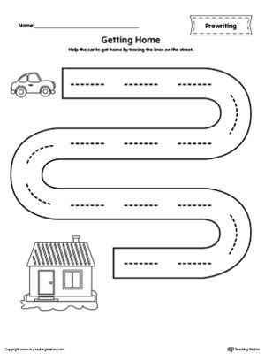 Street Line Tracing Prewriting Worksheet Myteachingstationcom