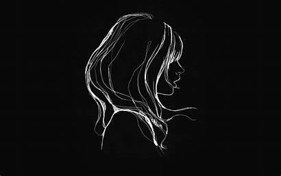 Dark Simple Drawing Illustration Minimal 4k