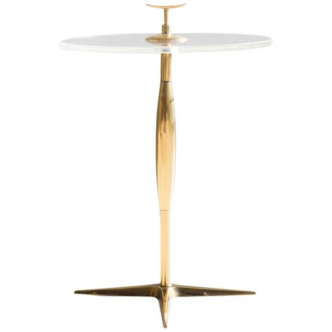 stiffel brass and lucite side table modernism