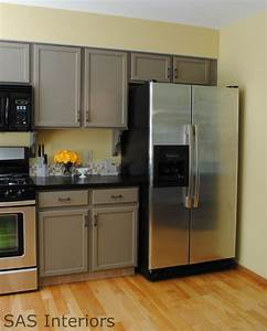 kitche re do with countertops redone i love everything With kitchen cabinets lowes with taupe wall art