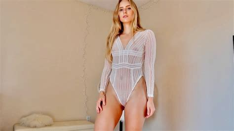 caroline zalog nude see through lingerie try patreon video thothub tv