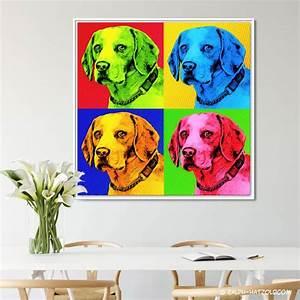 Pop Art Kleidung : pop art beagle hund in 4 farben andy warhol stil auf leinwand ~ Indierocktalk.com Haus und Dekorationen