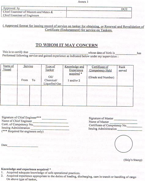 Amsa Stcw 95 Application Form by Directorate General Of Shipping Govt Of India