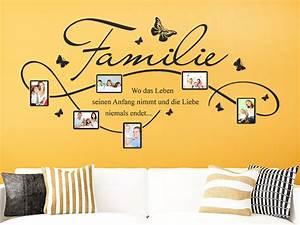 Tattoo Ideen Familie : wandtattoo familie fotorahmen mit spruch ~ Frokenaadalensverden.com Haus und Dekorationen