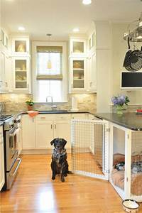 Pet friendly kitchens south shore cabinetry for Dog room furniture