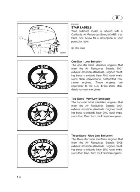 Yamaha 9 9 Outboard Motor Owners Manual by 2004 Yamaha Outboard F9 9c T9 9c Boat Motor Owners Manual