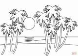 Coloring Pages Sunset sketch template