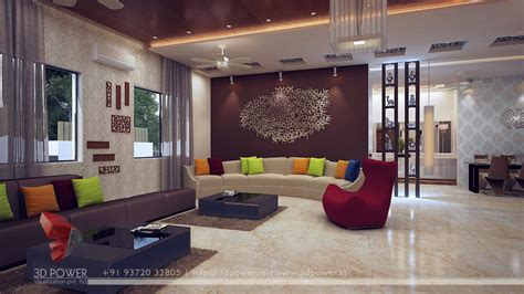 Livingroom Interiors by Modern Living Room Interior Interior Design 3d Rendering