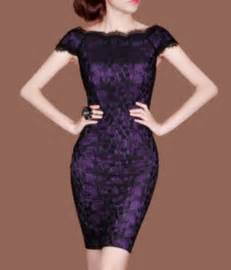 Dark Purple Black Lace Dress