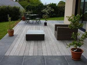 les 25 meilleures idees de la categorie carrelage terrasse With photo carrelage terrasse exterieur 1 dallage en pierre naturelle