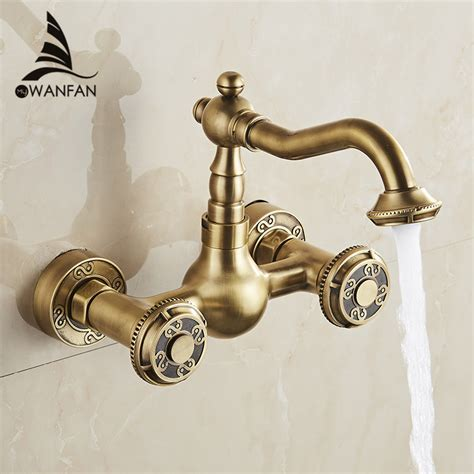 Basin Faucets Antique Bronze Brass Bathroom Kitchen Faucet